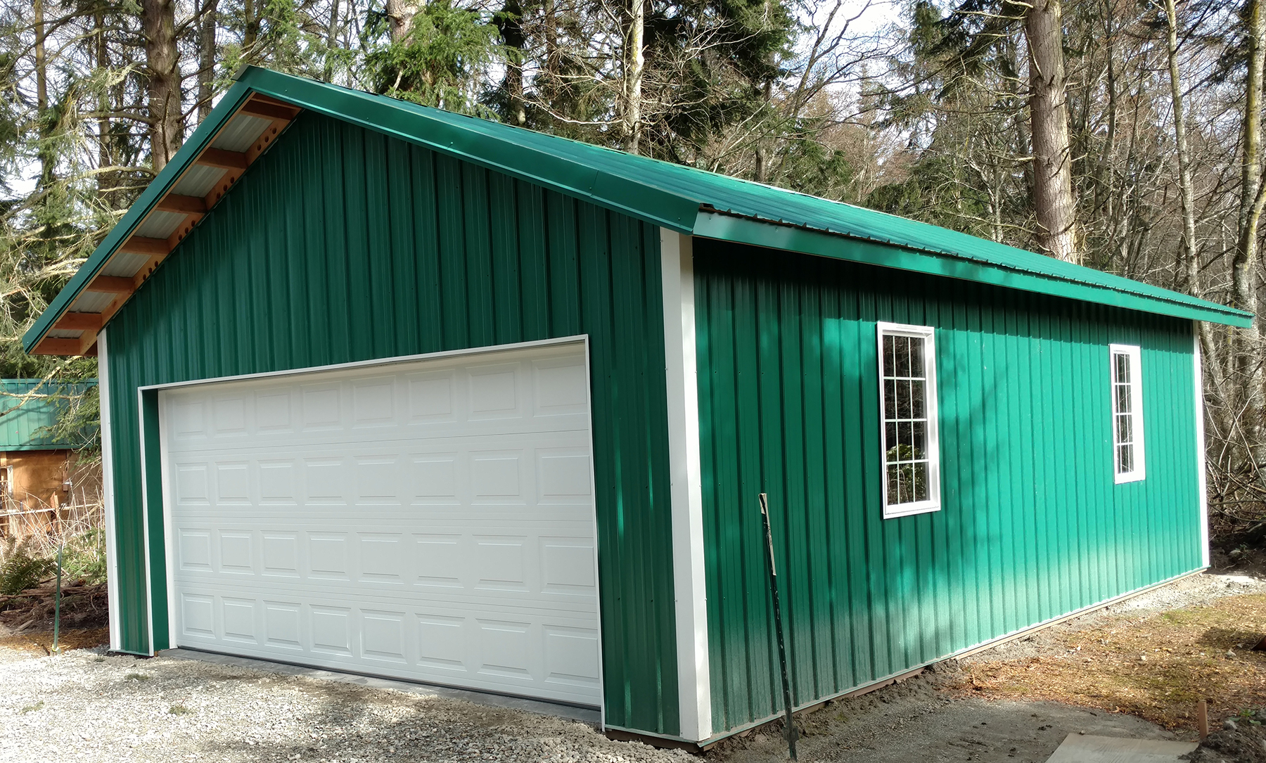 pole building gallery lbconstructionofwhidbey com c simple garage with workbench